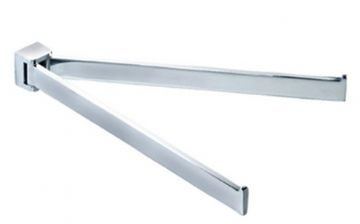 Gedy Glamour Double Swing Towel Rail Chrome 5723-13